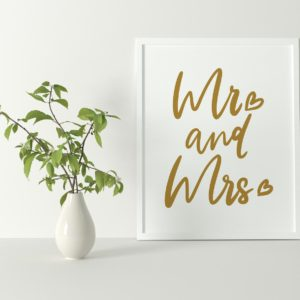 Mr and Mrs A4 Print