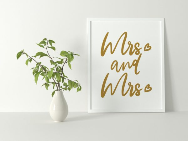 Mrs and Mrs A4 Print